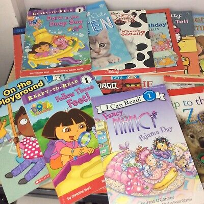 Lot of 10 Level 1~RL~Ready to-I Can Read-Step into Reading-Learn Read Books MIX 7