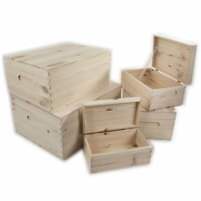 Wooden Boxes Choice Of 5 Sizes Home Storage Keepsake Memory Solutions Diy