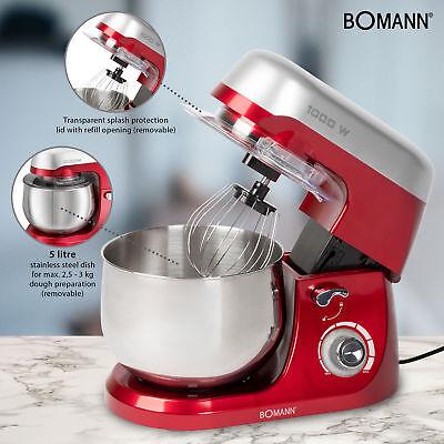 Robot cocina multifuncion batidora amasadora reposteria 5L 1000W Bomann KM 6009 4