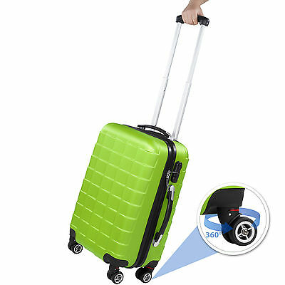 Set 3 Maletas ABS Juego de Maletas de Viaje Trolley Rígidas Verde con Candado 2