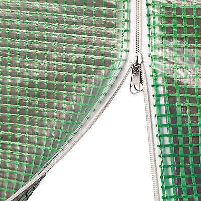 Serre tunnel de jardin 6 fenetres bâche verte maraîchère metal serres PE 7m² 7