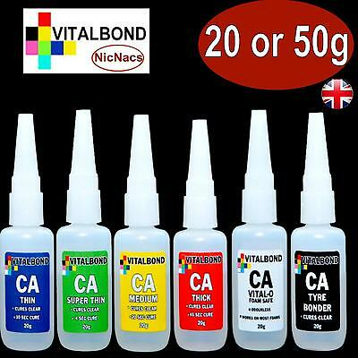 Vitalbond Super Glue model cars plastics,metal,balsa wood,leather,No mixing, DIY 4