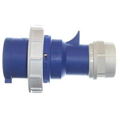 32A 3 Pin Plug 230V Waterproof IP67 Fast-Fit blue 2P+E 32A Caravan Marina 4