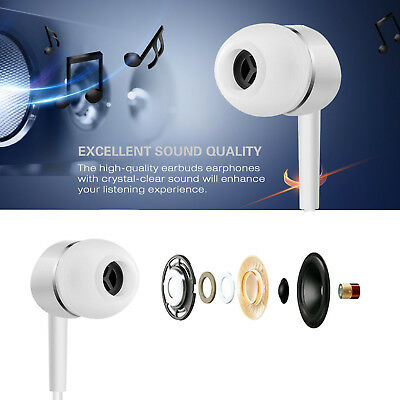 Gold Earbuds Headphones with Mic and Remote for iPhone 6s 6 6Plus 5s 5c 4s iPod 7
