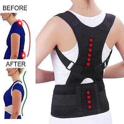 Posture Corrector Support Men Women Magnetic Back Shoulder Brace Belt Adjustable 4