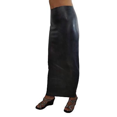 Langer Latex Humpelrock aus Rubber in schwarz, Einheitsgröße 5