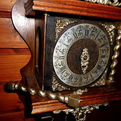 BIG Vintage Wall Clock DUTCH ZAANSE ZAANDAM stoelklok for REPAIR parts missing 11