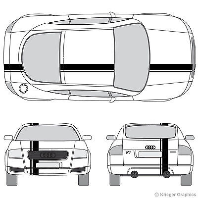 Audi TT R8 RS5 S4 S5 A5 Single Offset Rally Racing Stripes 3M Stripe Decals