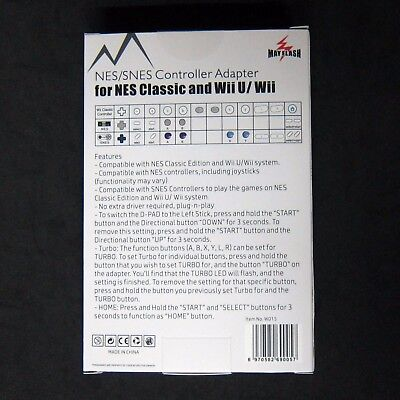 NES SNES SFC Controller to for Wii, NES Classic Edition Mini Adapter Mayflash