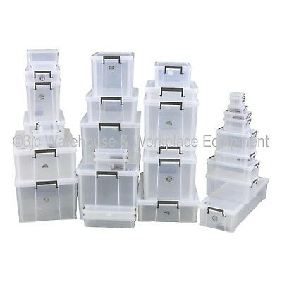 NEW Allstore Commercial Quality Clear Plastic Storage Box Boxes & Lids 33 Sizes 2