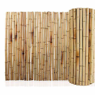 sichtschutzzaun bambus natur bambusmatte bambuszaun sichtschutz windschutz 2