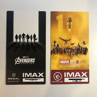 Marvel's Avengers Infinity War Endgame IMAX Ticket 4 Set - Thanos Iron Man Thor 12