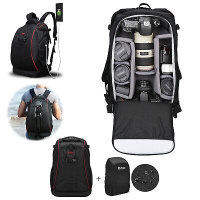 Large Digital Camera Bag Backpack SLR DSLR Case for Nikon Sony Canon Rucksack 9