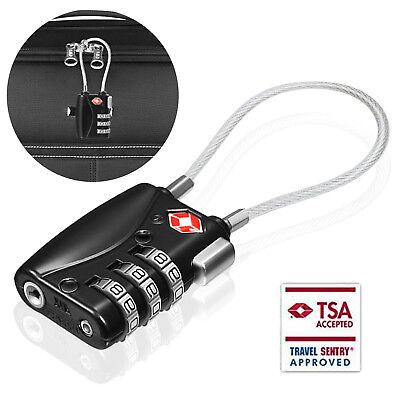 TSA Padlock Travel Smart Combination Locks 3 Digit Password Resettable Security 2