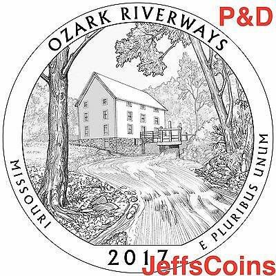 12x 2017 P D Ozark Riverways Missouri Park Quarter + Gift Bag Low Cost 2nds ATB 2