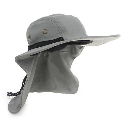 Boonie Mens Hat Brim Ear Neck Cover Sun Flap Cap Visor Fishing Garden Outdoor 3