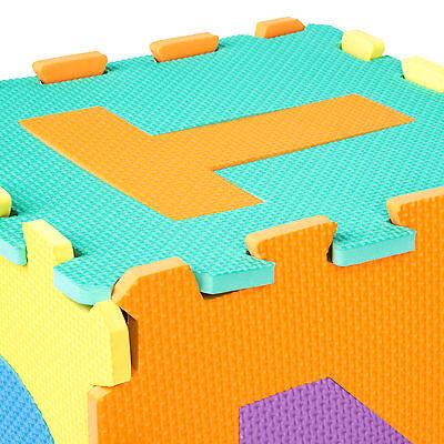 Manta de juegos alfabeto puzzle alfombra rompecabezas 86 piezas goma espuma EVA. 6