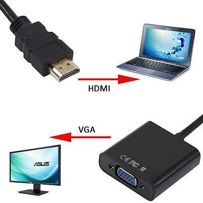 Adaptateur Video Convertisseur 1080P Hdmi Male Vers Vga Femelle 3