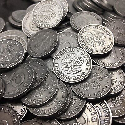 Rare WW2 Nazi Germany 3rd Reich 10 Reichspfennig Swastika Coin Buy 3 Get 1 Free 5