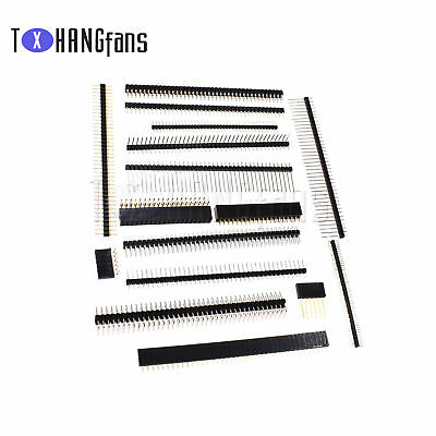 Pin Header Strip 3-40 Pin 1.27//2.0//2.54mm round Row Angle Male Female ATF