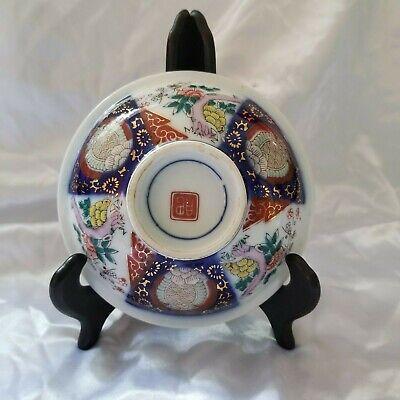 Small Antique Imari Arita Japanese Meiji/Hizen Period Marked Footed  Bowl 2