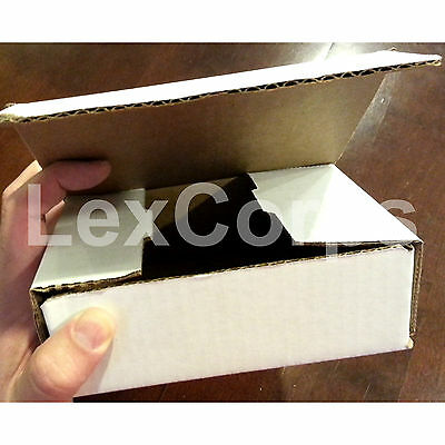 White Corrugated Mailers MANY SIZES 50 100 200 Shipping Packing Fold Box 8