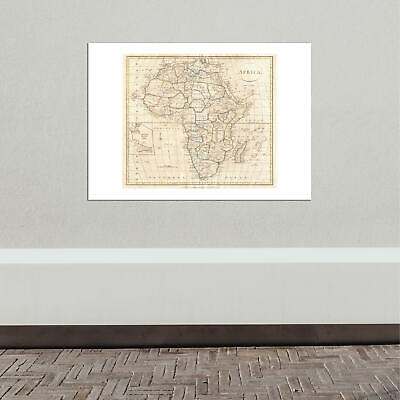 Africa Map Clement Cruttwell 1799 Wall Art Poster Print 11