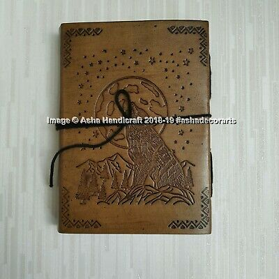The Moon Halloween Special Handmade Leather Diary Journal Indian Cotton Paper 3