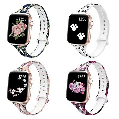 Soft Silicone Multicolor Band Compatible with Apple Watch Series 5, 4, 3, 2, 1 9