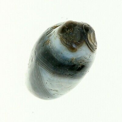 (0621) Striped Agate not  Finished Bead from China-Tibet,  中国古董条纹玛瑙珠 8