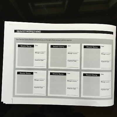 PEUGEOT 307 Service Book New Blank History Maintenance Record Portfolio