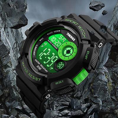 Men's Army SHOCK Sport Quartz Wrist Day Date Digital Watch Waterproof Military 2
