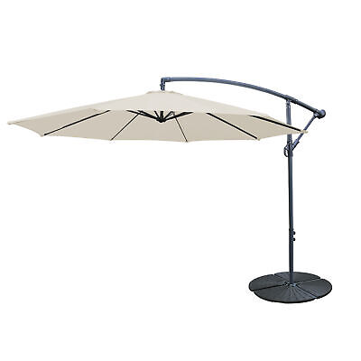 Cantilever Parasol Base Weights 4 Piece Banana Umbrella Stand Holder Fan Shaped 4