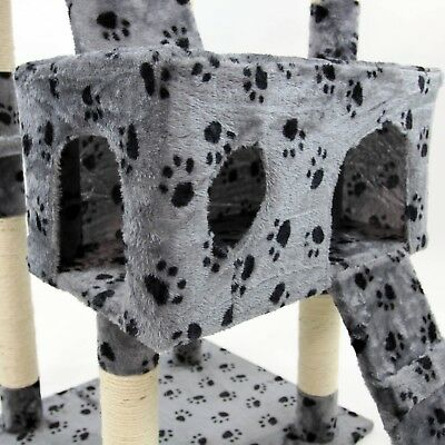 Cat Tree Activity Centre Scratcher Scratching Post Kitten Play Toy Scratch Bed 6
