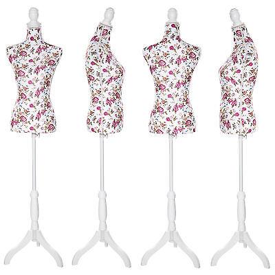 Maniquí de sastres costureras maniquíes sastrería torso femenina blanco con rosa 3