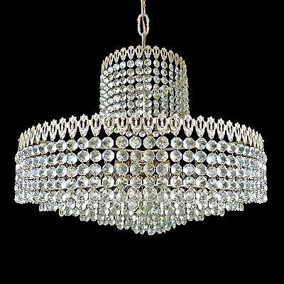 Elegant Large 8 Tier Crystal Beads Wedding Cake Bakalowits Era Chrome Chandelier 2
