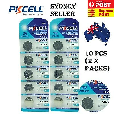 5 Brand New PKCELL CR2032 Button Cell 3v Lithium battery GENUINE EXPIRY 2023 7