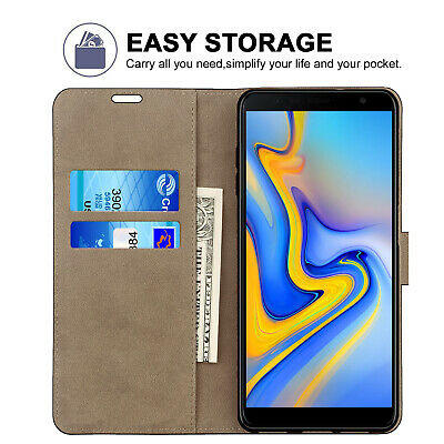 Case For Samsung Galaxy J3 J5 J4 J6 Plus J8 Phone Leather Flip Card Wallet Cover 6