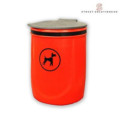 Doggy Bin - 40 Litre Wall or Post Mountable Plastic Dog Waste Bin RED or GREEN 2