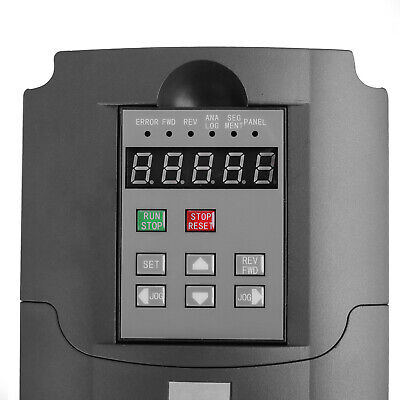 1.5KW 2HP Single To 3 Phase Variable Frequency Drive Inverter CNC VFD VSD 220V 9