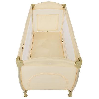 Lettino da viaggio per bambini bambino bimbo portatile box culla beige nuovo 3