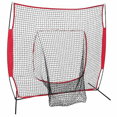 7x7Ft Bow Frame Baseball Softball Teeball Practice Batting Training Net W/Bag 10