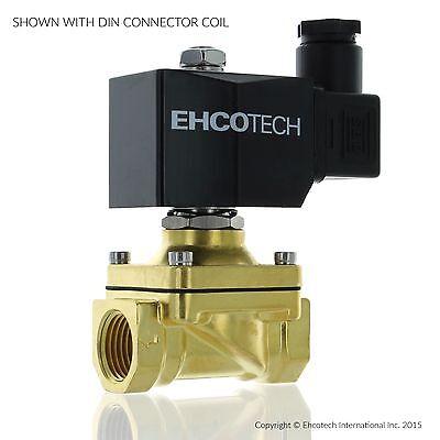 "1/2"" 110V 120V AC Brass Electric Solenoid Valve Water Air Gas Viton NC 110VAC"