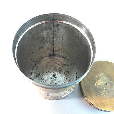 (m145) Blechdose Rhiz. Tormentill. 18 cm APOTHEKERDOSE Blech Metall Dose 5