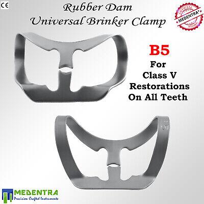 MEDENTRA 6PCS Dental Rubber Dam Clamps Brinker Clamp Tissue Premolar Clamp Molar 6