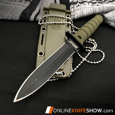 """6"""" TACTICAL COMBAT SURVIVAL Army Spear HUNTING KNIFE Bowie Military Fixed Blade 4"""
