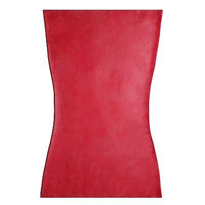 Kurzes Latexkleid aus Rubber in der Farbe rot, Einheitsgröße