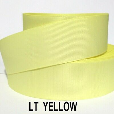 "3/8"" 5/8"" 7/8"" 1.5"" Grosgrain Ribbon 4 Yards of 1 Color Solid Bulk Wholesale 5"