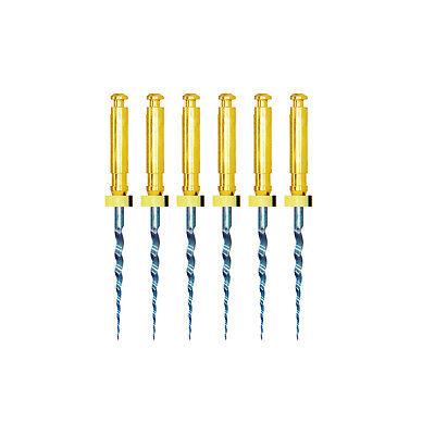 6Pcs/box Blue Dental Heat Activated Niti Endodontic Root Canal Files 25mm Mixed 9