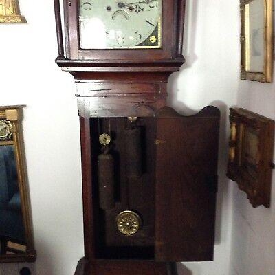 Antique Oak Grandfather Clock 10
